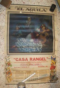 Calendarios mexicanos - Celos gitanos - Jesús Helguera E.