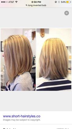 Long inverted bob