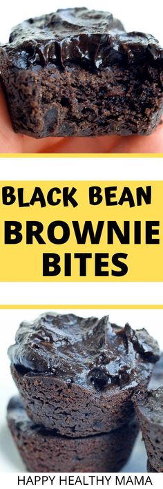 These are the BEST EVER Black Bean Brownie Bites!! Top them with an avocado chocolate frosting and YUM!! A healthy, vegan and gluten free brownie recipe that everyone LOVES.