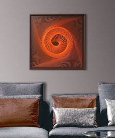 Large Abstract Zen Wall Art In Gray   Framed Art   3D UV String Art   Wall  Art For Home   Wall Art For Office Spa Restaurant   With Relief | Pinterest  ...