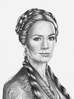 Lena Headey pour #GameOfThrones [Copyright : Sheepys_drawings]