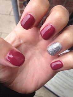 Sparkly shellac nails x