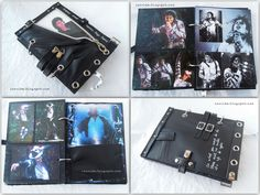 cool handmade notebook--  Michael Jackson notebook. Details: http://izo-lda.blogspot.com/2012/06/mj-notebook.html