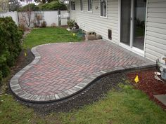 Small paver patio