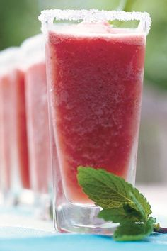 Punch and Cocktail Summer Drink Recipes: Watermelon-Mint Margaritas