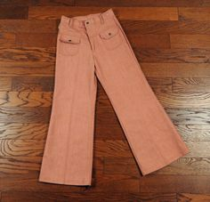 vintage 60s bellbottoms dusty rose pink by CarnivalOfTheManiac
