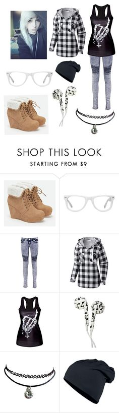 """""""Done with today already"""" by ed-ward-scissorhands ❤ liked on Polyvore featuring JustFab, Muse, Boohoo, Columbia and Hot Topic"""