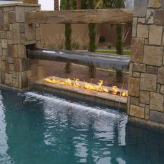 fire pit with water!