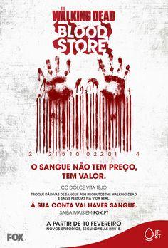 Campanha Fox-Walking Dead 2014   #blooddonation #darsangue #giveblood Blood Donation, The Walking Dead