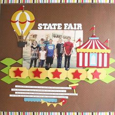 Very simple but also very eye catching. Circus themed scrapbooking layout. Trendy Tuesday – Circus