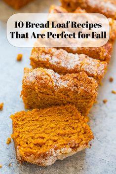 Pumpkin Recipes, Fall Recipes, Sweet Recipes, Holiday Recipes, Loaf Recipes, Dessert Recipes, Cooking Recipes, Desserts, Dessert Bread