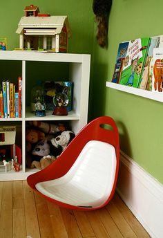 60's Tip N Rock Vintage Pod Chair for a Kids Reading Corner