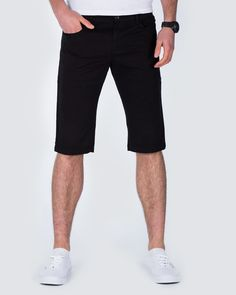 d961d7f7c9 Ed Baxter Slim Fit Stretch Chino Shorts (black) | Extra Long Tall Mens  Clothing