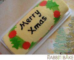 Christmas theme swiss roll - the Christmas wreath