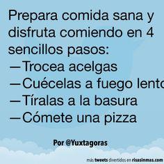 Prepara comida sana. #humor #risa #graciosas #chistosas #divertidas