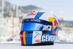 Jean-Eric Vergne´s Monaco helmet tribute to Francois Cevert