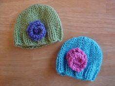 Baby Doll Hats (Free Knitting Pattern)