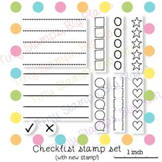 Planner stamps - Checklist stamp set - To Do List - clear stamp set for your planner or diary, original design