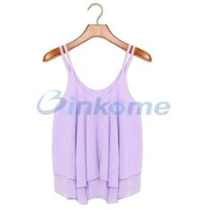 Chiffon-Sexy-Women-Casual-Sleeveless-Shirt-Loose-Vest-Tank-Top-Blouse