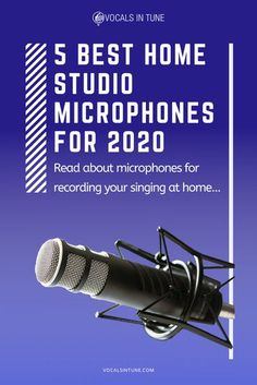 Finding the best home studio microphones can be tough since there are a lot available in the market. We reviewed five products to help you out. #home #studio #microphones #review #singing #recording #best Learn Singing, Singing Lessons, Singing Tips, Recording Studio Microphone, Recording Booth, Home Studio Equipment, Music Software, Home Studio Music, Recorder Music