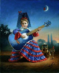 2009 'The Muse of Spanish Heart', Michael Cheval (born Mikhail Khokhlachev, 1966, Kotelnikovo, USSR)