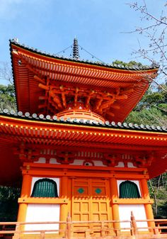 The Tahoto, Shingon style pagoda at Kimiidera Temple.