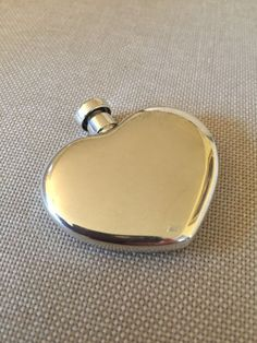Nice Vintage Tiffany & Co Sterling Silver Heart Shaped Perfume Bottle