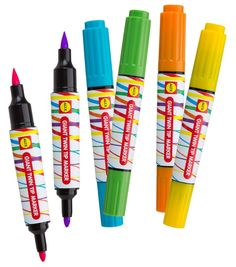 Alex Giant Twin Tip Markers are perfect for small hands to easily grip for kids arts and crafts projects.