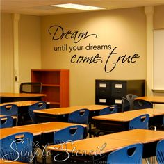 An inspirational vinyl wall decal to adorn the walls of your home, school or anywhere you want to inspire following your dream!