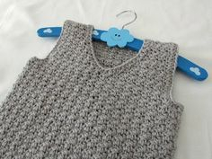 How to crochet a textured v-neck vest tutorial - any size - YouTube
