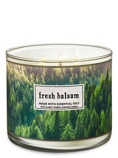 Fresh Balsam 3 Wick Candle Bath Candles3 CandlesBath And BodyworksChristmas Wishlist 2018Best
