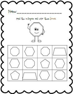 Shape and Color Practice Pre K Worksheets, Shapes Worksheet Kindergarten, Shapes Worksheets, Kindergarten Age, Black Bee, Numbers Preschool, Homeschool Math, Head Start, Fun Math