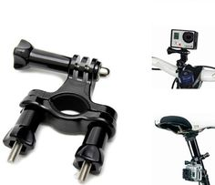 Gopro Accessories Bicycle Handlebar Seatpost Clamp With Three-way Adjustable Pivot Arm FOR Go Pro HD Hero 3 Hero3+ Hero 4 Camera