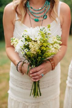 Eliza J dress #boho #wedding #style, image by Mary Wyar Photography