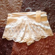 IVORY LACE BOXER PANTIE  Small Ivory Lace Boxer Pantie, 88% Nylon, 12% Spandex, Lined Cotton Crotch LADY PRINCESS Other