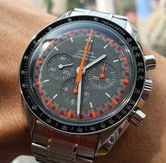 Omega Speedmaster Mark II by watchpartner Cool Watches, Watches For Men, Men's Watches, Omega Speedmaster Moonwatch, Speedmaster Professional, Metal Bracelets, Color Splash, Omega Watch, Mens Fashion