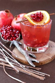 Pomegranate Old Fashioned adds some tartness to your drink. In the best way possible.