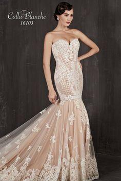 Calla Blanche - 16103 / JAQUELINE   Jaehee Bridal Atelier  #trumpet #sweetheart #strapless #bridal #weddingdress