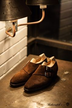 http://chicerman.com  tailorablenco:  John lobb MTO Chapel Parisian Brown Suede at The Tailorable&coSeoul  #menshoes