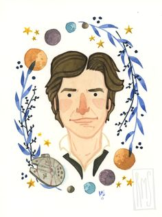 Han Solo by Rachel Silva Parks And Recs, Parks And Recreation, All Print, Stranger Things, Card Stock, Disney Characters, Fictional Characters, Art Pieces, Geek Stuff