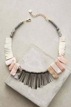 Stone Sunset Bib Necklace