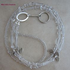 Angel wings lanyard for your ID badge, keys, transportation pass, cruise card and more!