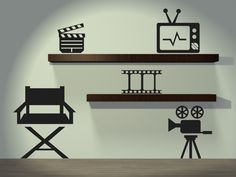 Equipo de cine  $250.00  http://www.vinilosdivinos.com/tiendavinilos/cine/vinilo-decorativo-cine-claqueta-camara