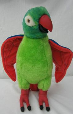 Paulie Parrot Animated Talking Plush 1998 DreamWorks 15""