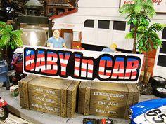 メッチャアメリカンな「赤ちゃん乗ってます」のステッカー販売 アメリカ雑貨のテーマパーク!キャンディタワー