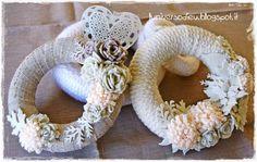 Tricot, felt, fabric wreaths by L'Universo di Eu