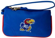 NCAA Kansas Jayhawks Wristlet Purse by Charm14. $11.03. Don't feel like lugging a big handbag out for a quick visit to the store? Our wristlet bag is perfect for the on-the-go girl. Don't let the size fool you – this cute purse can hold all your essentials – money, credit cards, ID, and even a phone! It's like a small cell phone case on your wrist. This wristlet cell phone purse even has a compartment on the inside that zippers to allow you to hold your loose cha...