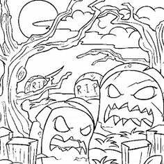Halloween Monsters Coloring Pages Monster Coloring Pages, Coloring Pages For Girls, Colouring Pages, Coloring Sheets, Halloween Letters, Halloween Cat, Desktop Pictures, Home Pictures, Pumpkin Coloring Sheet