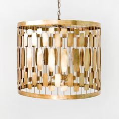 I love gold pendants and chandeliers...this is so Season 4 Mad Men