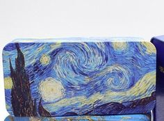 Van Gogh Starry Night Metal Tin Pencil Box for PREORDER by GoatGirlMH on Etsy